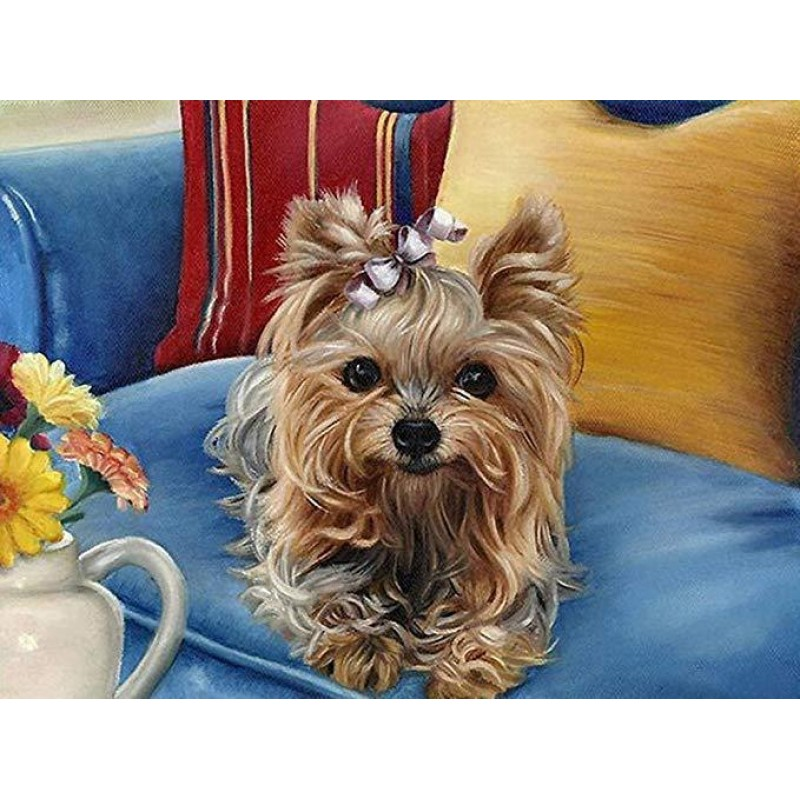 Yorkie Art Diamond P...