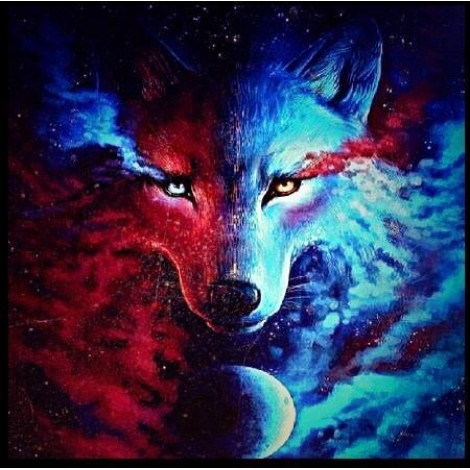 Wolf Special Colors Diamond Painting Kit